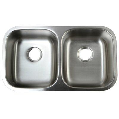 Loft 18.5 x 32.31 Gourmetier Undermount Double Bowl Kitchen Sink