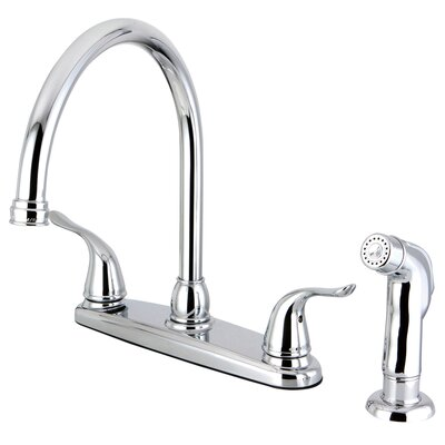 Yosemite Two Handle Center Set Kitchen Faucet Finish: Polished Chrome