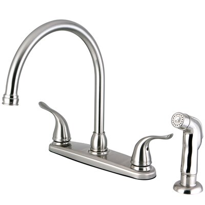 Yosemite Two Handle Center Set Kitchen Faucet Finish: Satin Nickel