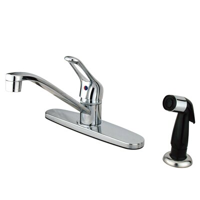 Wyndham Single Handle Centerset Kitchen Faucet with Side Sprayer