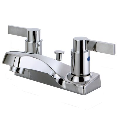 Double Handle Centerset Lavatory Bathroom Faucet with Pop-UP Drain
