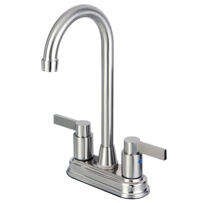 Nuvofusion Double Handle Kitchen Faucet Finish: Satin Nickel