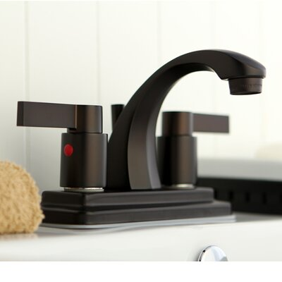 Double Handle Centerset Lavatory Bathroom Faucet with Retail Pop-Up Finish: Oil Rubbed Bronze