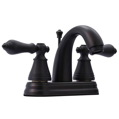 English Classic Double Handle Centerset Bathroom Faucet with ABS Pop-Up Drain Finish: Oil Rubbed Bronze