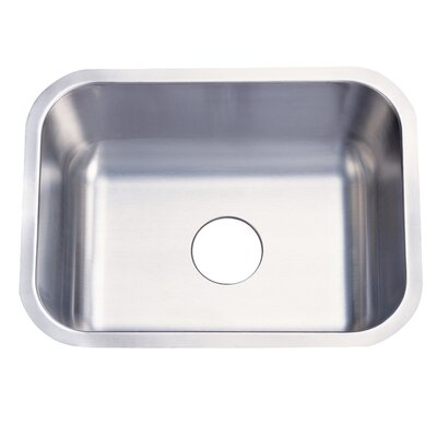 Chicago 21.38 x 17.75 Gourmetier Single Bowl Undermount Kitchen Sink