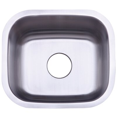 Country 17.81 x 15.63 Gourmetier Single Bowl Undermount Kitchen Sink