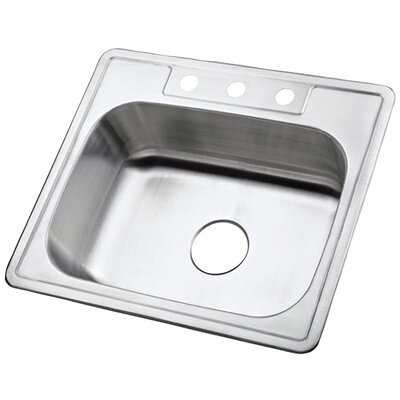Carefree 25 x 22 Single Bowl Self-Rimming Kitchen Sink