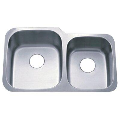 Loft 20.75 x 32 Gourmetier Undermount Double Bowl Kitchen Sink