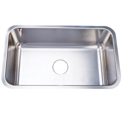 Boston 30.13 x 17.88 Gourmetier Single Bowl Undermount Kitchen Sink