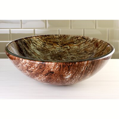 Fauceture Double Layer Circular Vessel Bathroom Sink Sink Finish: Brown