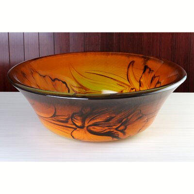 Fauceture Double Layer Circular Vessel Bathroom Sink Sink Finish: Fire