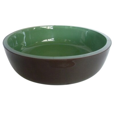 Fauceture Double Layer Circular Vessel Bathroom Sink Sink Finish: Emerald Green
