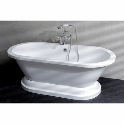 Aqua Eden 67 x 31.5 Pedestal Double Bathtub