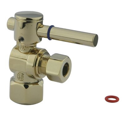 Concord Angle Stop with 1/2 IPS x 3/8 OD Compression Finish: Polished Brass