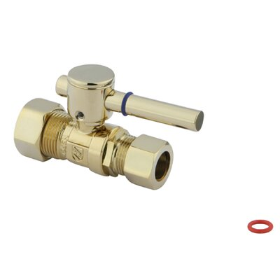 Concord Straight Stop With 5/8 OD Compression x 1/2 OD Compression Finish: Polished Brass
