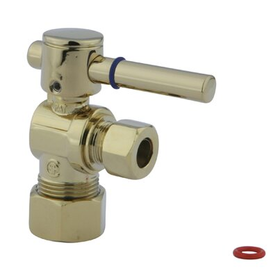 Concord Angle Stop with 5/8 OD Compression x 3/8 OD Compression Finish: Polished Brass