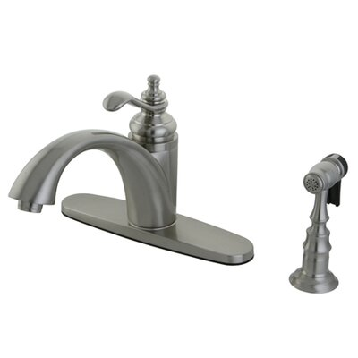 Templeton Gourmetier Single Handle Kitchen Faucet Finish: Satin Nickel