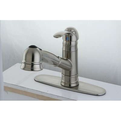 Eden Gourmetier Pull-Out Kitchen Faucet Finish: Satin Nickel