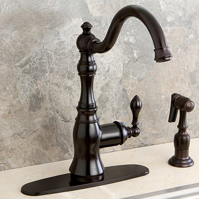 American Classic Gourmetier Single Handle Kitchen Faucet Finish: Oil Rubbed Bronze