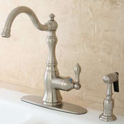 American Classic Gourmetier Single Handle Kitchen Faucet Finish: Satin Nickel