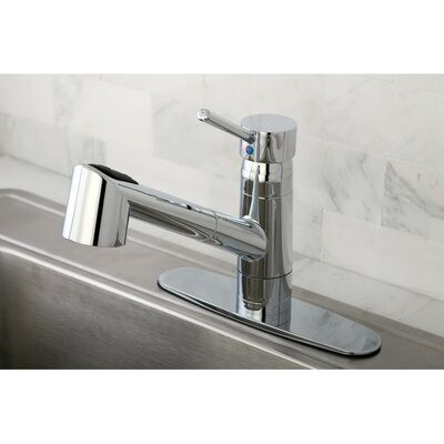 Wilshire Gourmetier Single Handle Pull-Out Spray Kitchen Faucet Finish: Polished Chrome