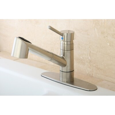 Wilshire Gourmetier Single Handle Pull-Out Spray Kitchen Faucet Finish: Satin Nickel