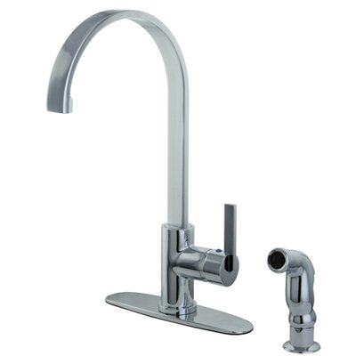 Continental Single Handle Kitchen Faucet with Side Spray