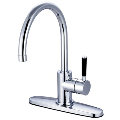 Kaiser Single Handle Kitchen Faucet Finish: Polished Chrome