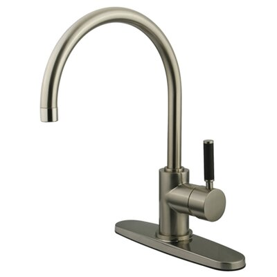 Kaiser Single Handle Kitchen Faucet Finish: Satin Nickel