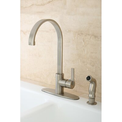 Continental Gourmetier Single Handle Kitchen Faucet Finish: Satin Nickel