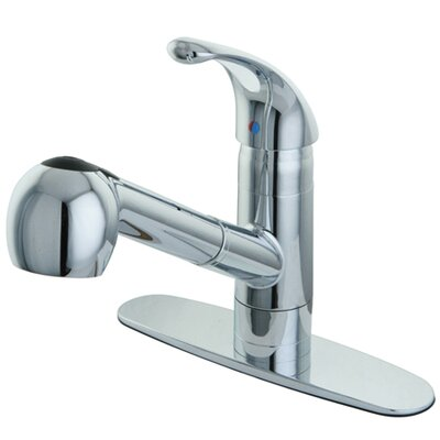 Century Gourmetier Single Handle Pull-Out Spray Kitchen Faucet Finish: Chrome