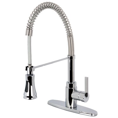 Continental Gourmetier Single Handle Pull-Down Spray Kitchen Faucet Finish: Polished Chrome