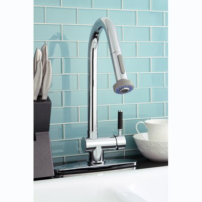 Kaiser Gourmetier Single Handle Pull-Down Spray Kitchen Faucet Finish: Polished Chrome