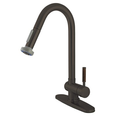 Wilshire Gourmetier Single Handle Pull-Down Spray Kitchen Faucet Finish: Oil Rubbed Bronze