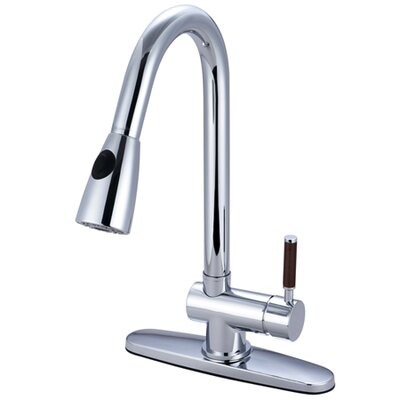 Wilshire Pull Down Single Handle Kitchen Faucet Finish: Polished Chrome