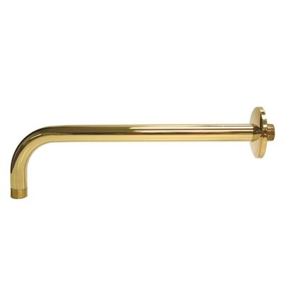12 Rain Drop Shower Arm Finish: Polished Brass