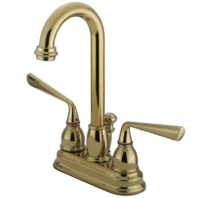 Silver Sage Double Handle Centerset Bathroom Faucet with Brass Pop-Up Drain Finish: Polished Brass