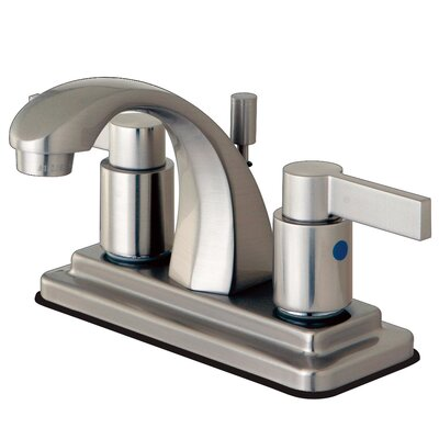 Nuvofusion Double Handle Centerset Bathroom Faucet with Pop-Up Drain