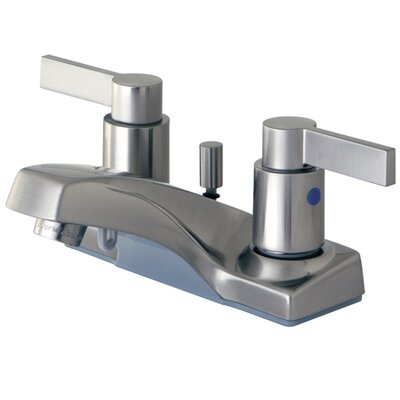 NuvoFusion Double Handle Centerset Bathroom Faucet with Pop-Up Drain Finish: Satin Nickel