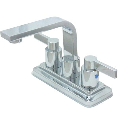 Nuvo Fusion Double Handle Centerset Bathroom Sink Faucet with Retail Push-up