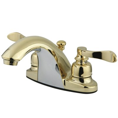 NuWave French Double Handle Centerset Bathroom Sink Faucet with ABS Pop-Up Drain Finish: Polished Brass
