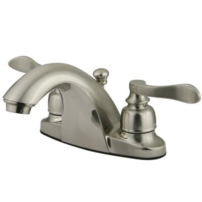NuWave French Double Handle Centerset Bathroom Sink Faucet with ABS Pop-Up Drain Finish: Satin Nickel