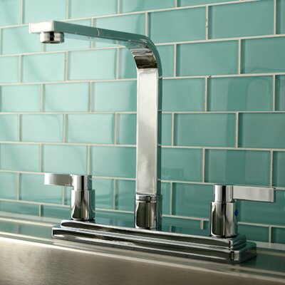 Nuvo Fusion Double Handle Kitchen Faucet Side Spray: Without Spray