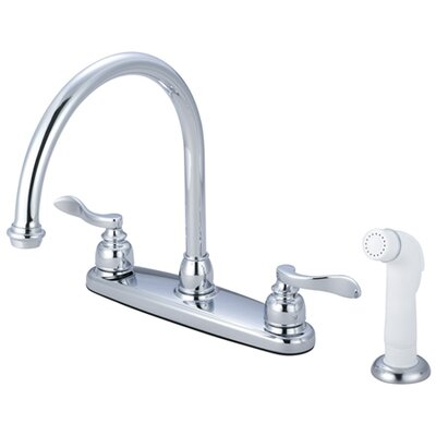 NuWave Double Handle Kitchen Faucet with Side Spray