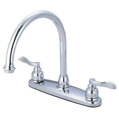 NuWave French Double Handle Centerset Kitchen Faucet Side Spray: Without Spray