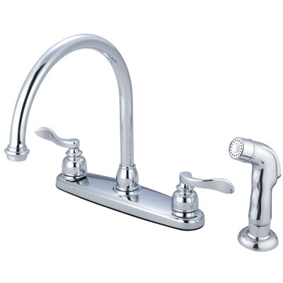 NuWave French Double Handle Centerset Kitchen Faucet Side Spray: With Spray