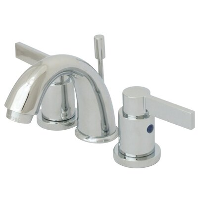 NuVo Fusion Double Handle Mini Widespread Bathroom Sink Faucet with Retail Pop-up Finish: Polished Chrome