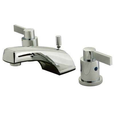 NuVo Fusion Double Handle Widespread Bathroom Sink Faucet with Retail Pop-up