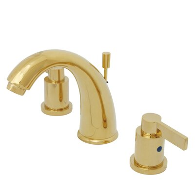 NuVo Fusion Double Handle Widespread Bathroom Sink Faucet with Retail Pop-up Finish: Polished Brass
