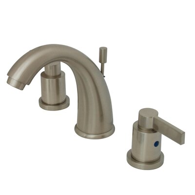 NuVo Fusion Double Handle Widespread Bathroom Sink Faucet with Retail Pop-up Finish: Satin Nickel